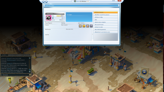 Menu games for Windows live