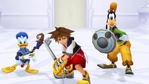 Sora, Donald et Dingo prêts à faire face à l'Organisation XIII au cœur du Manoir Oblivion dans KH Re : CoM !