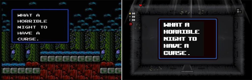 Castlevania Simons Quest VS Isaac