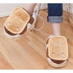 chaussons-chauffants-toast-usb